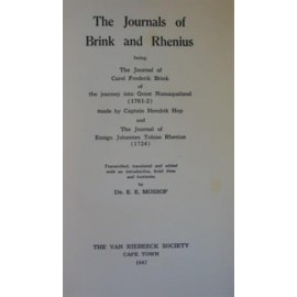 The journals of Brink and Rhenius