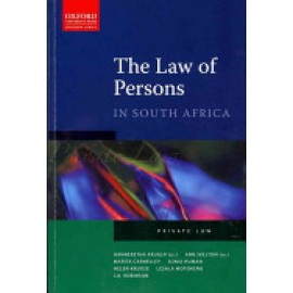 LAW OF PERSONS IN SA 2nd Ed