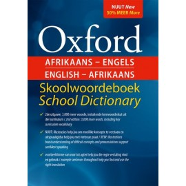 Oxford Afrikaans-English English Afrikaans Skoolwoordeboek/ School dictionary (9780199054688)