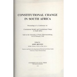 SECOND HAND - Constitutional Change in South Africa