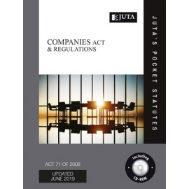 Juta's Pocket Statutes The Companies Act 71 of 2008 and Regulations (9781485134565)