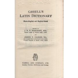Cassell's Latin Dictionary (Latin-English and English-Latin)
